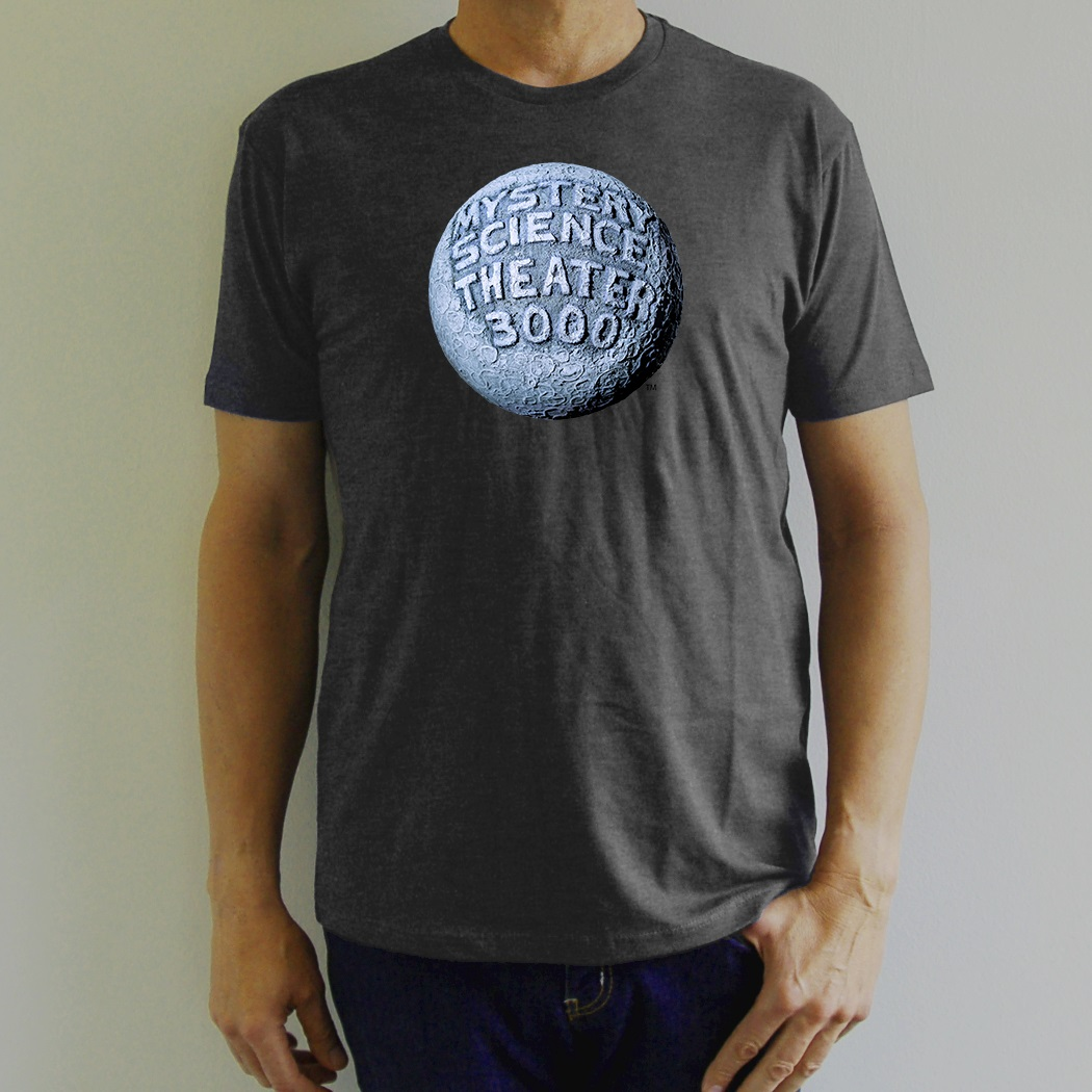 MST3K Gray Moon Logo T-Shirt main image
