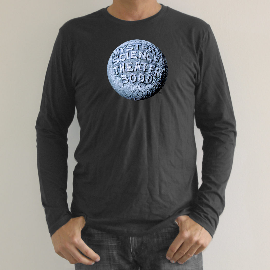 MST3K Gray Moon Logo Long Sleeve T-Shirt main image
