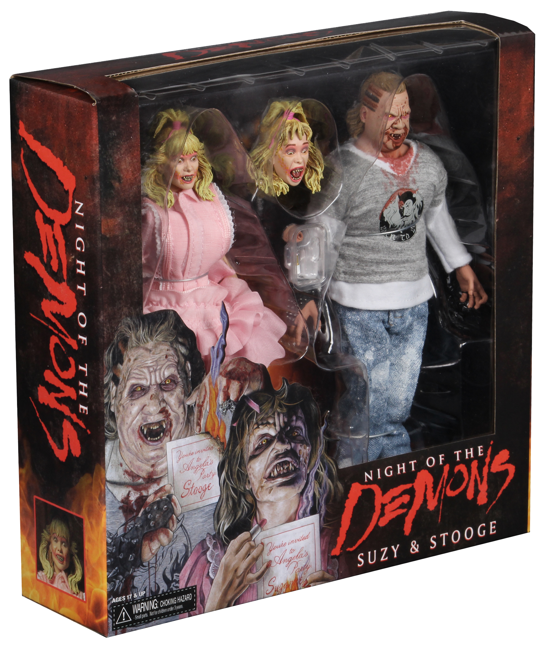 "Night Of The Demons 2-Pack ""Suzanne"" And ""Stooge"" NECA Action Figures"