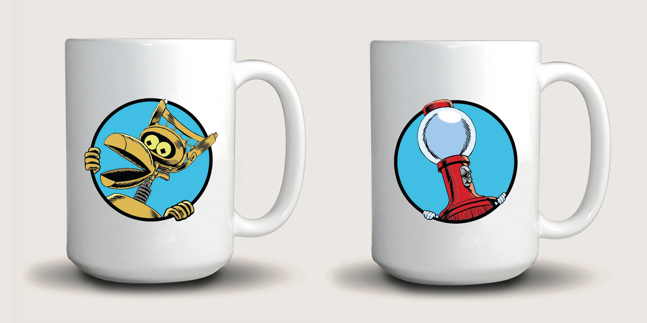 MST3K Tom Servo And Crow T. Robot (15 Ounce Two Coffee Mug Set) main image