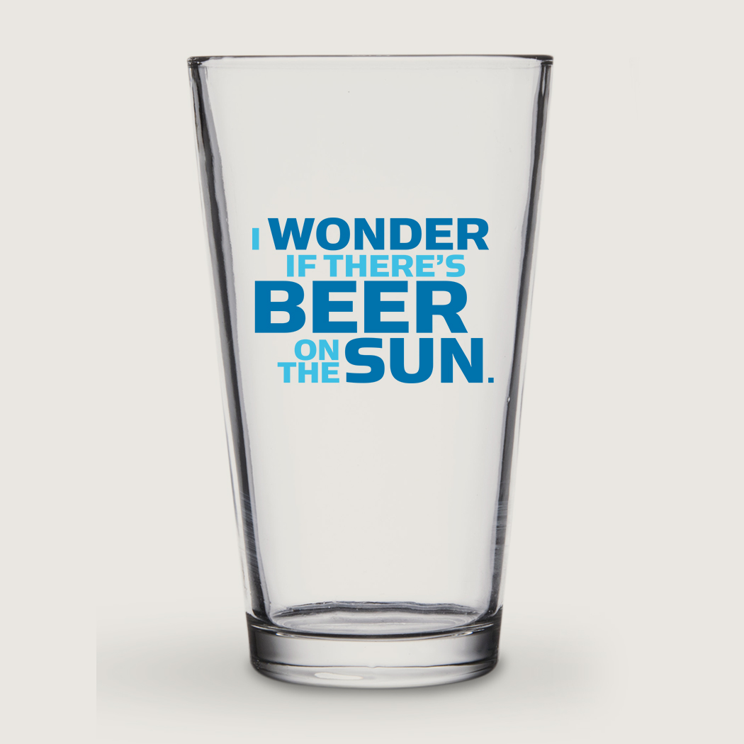 I Wonder If There's Beer On The Sun (Pint Glass) main image