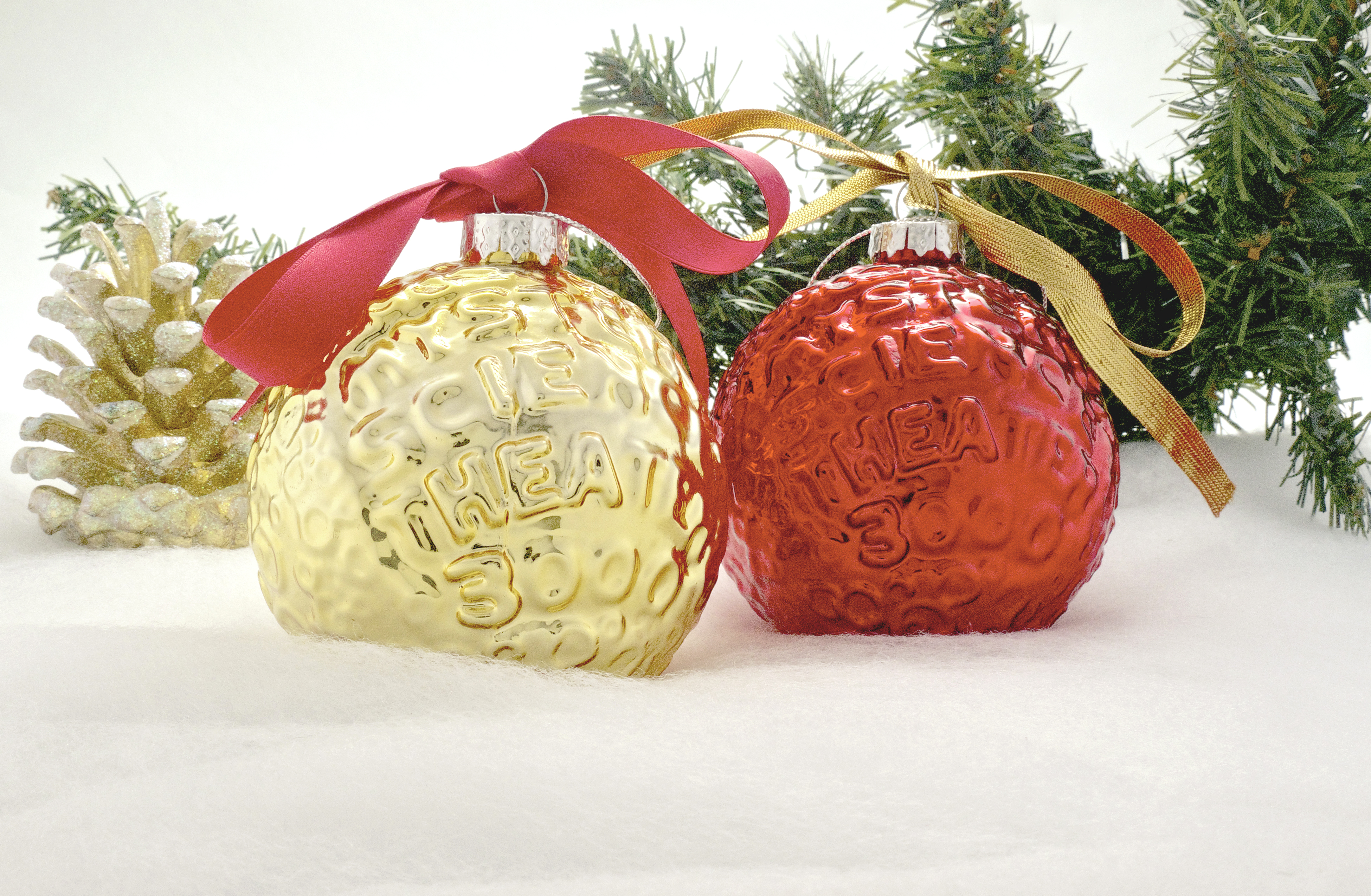 Set Of Two MST3K Moon Ornaments (Gold And Red) main image