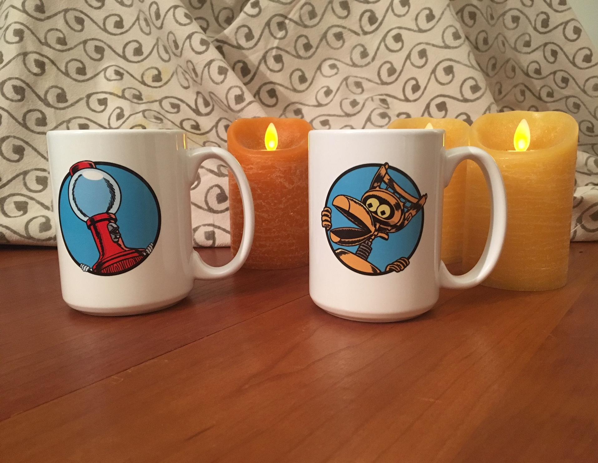 Tom Servo And Crow T. Robot (15 Ounce Two Coffee Mug Set) thumbnail