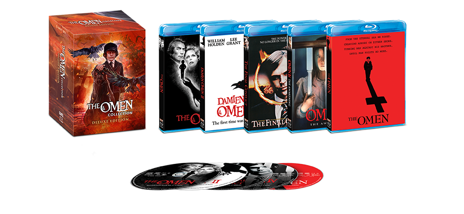 The Omen Collection Deluxe Edition Blu Ray Shout Factory