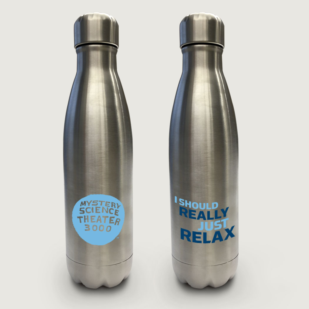 I Should Really Just Relax (17 Ounce Stainless Steel Water Bottle) thumbnail