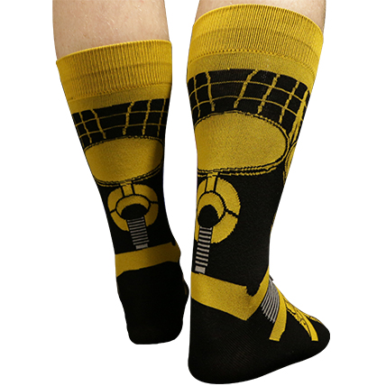 Two Pairs Of MST3K Bot Socks (Tom Servo and Crow T. Robot) thumbnail