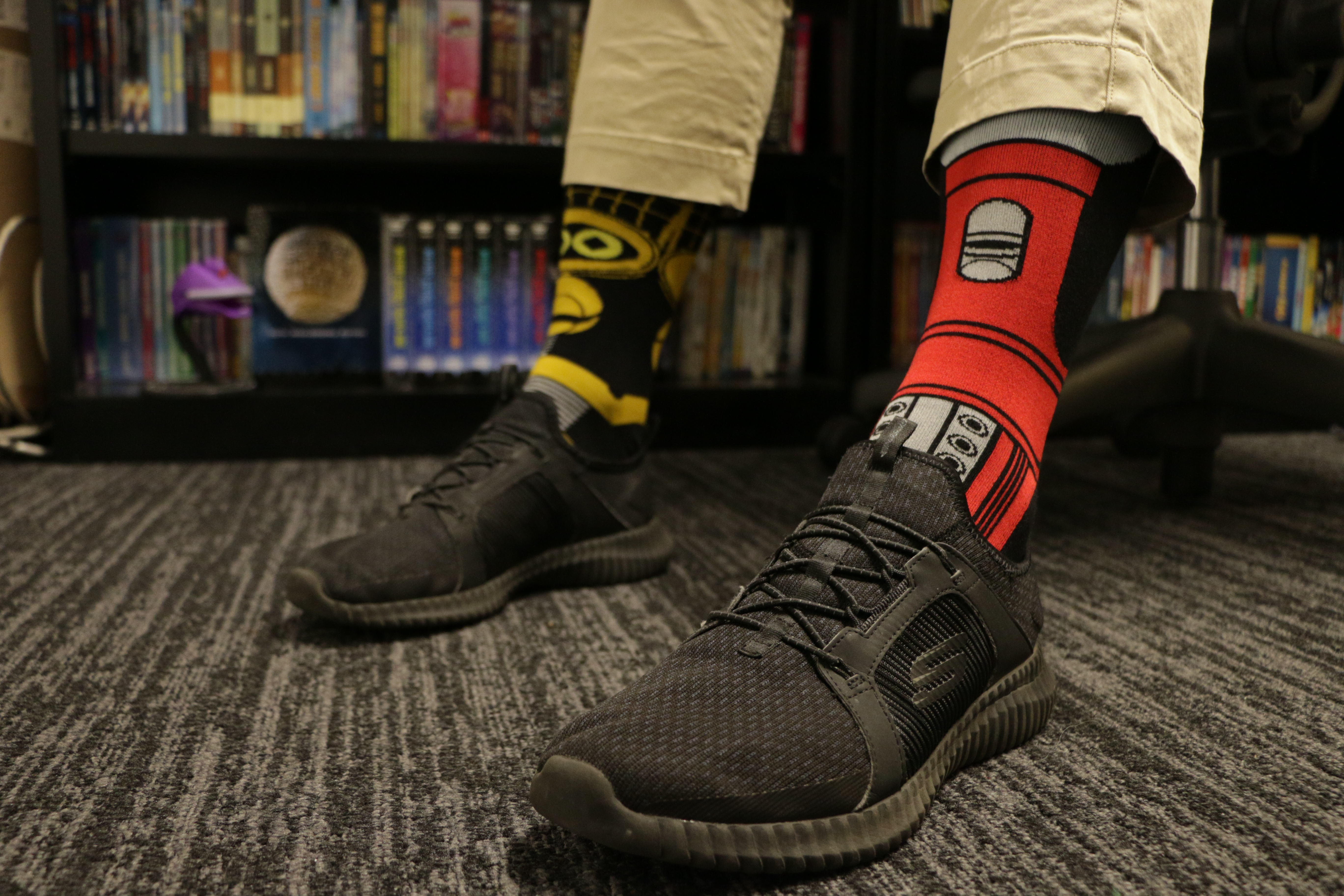 Two Pairs Of MST3K Bot Socks (Tom Servo and Crow T. Robot) main image