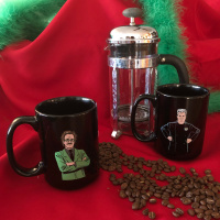 MST3K Dr. Clayton Forrester And TV's Frank (15 Ounce Two Coffee Mug Set)