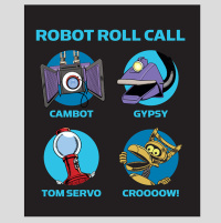 Robot Roll Call Plush Blanket