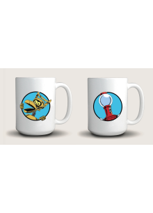Tom Servo And Crow T. Robot (15 Ounce Two Coffee Mug Set)