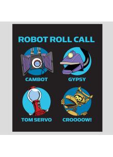 Robot Roll Call Plush Blanket