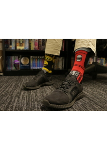 MST3K Bot Socks (Tom Servo and Crow T. Robot)